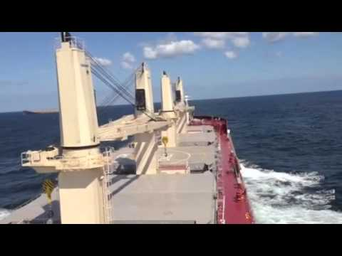 Jinling Shipyard 35K bulker - Sea trials