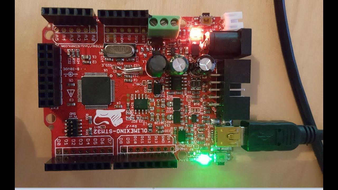 MAPLE IDE for Olimexino STM32 LED blink