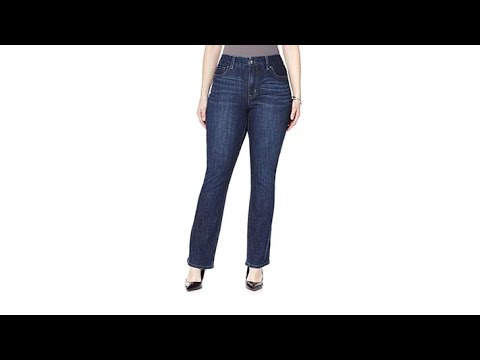 Melissa McCarthy Seven7 Slim BootCut Jean. http://bit.ly/2WDEyq3