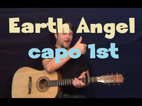 Earth Angel (The Penguins) Easy Guitar Lesson How to Play Tutorial Capo 1st Fret