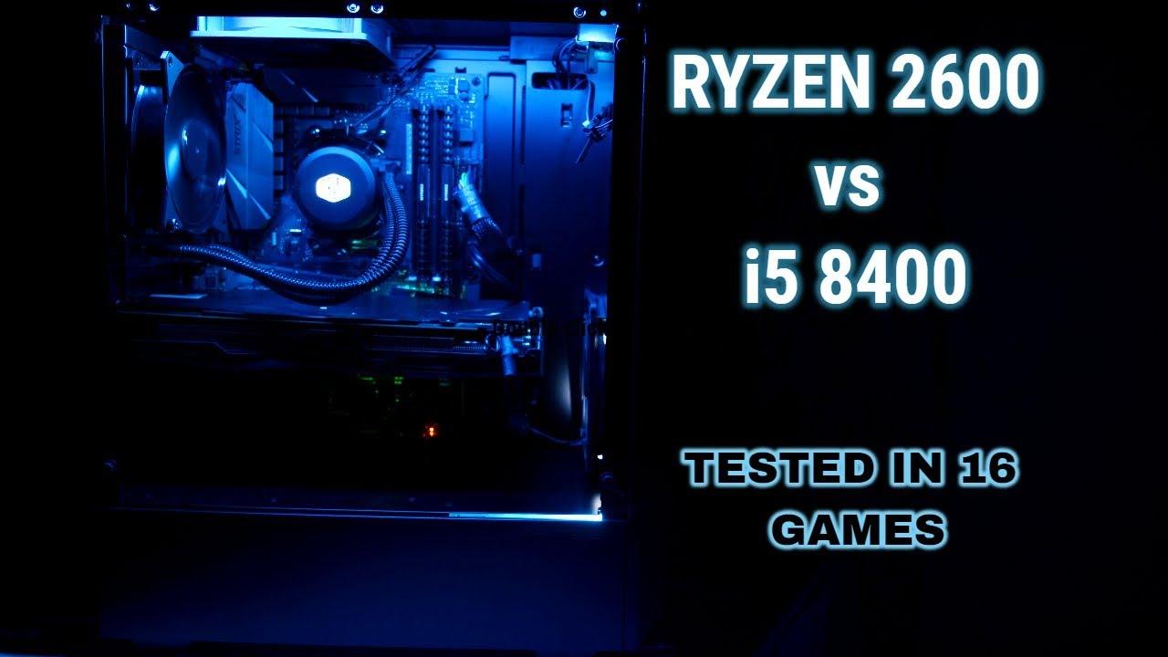 Ryzen 5 2600 vs Core i5 8400 16 Games Tested + Rendering Benchmarks