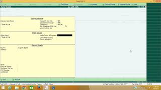 How to Create Export invoice in TallyERP 9 under Bond LUT Terms