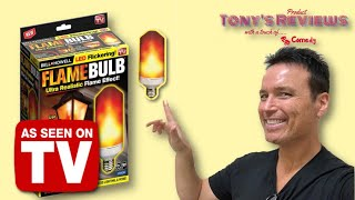 Flame Bulb As Seen On TV Review Bell+ Howell Unboxing Review