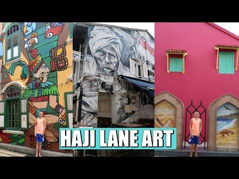 Amazing street art Haji Lane, Arab Quarter | Singapore vlog