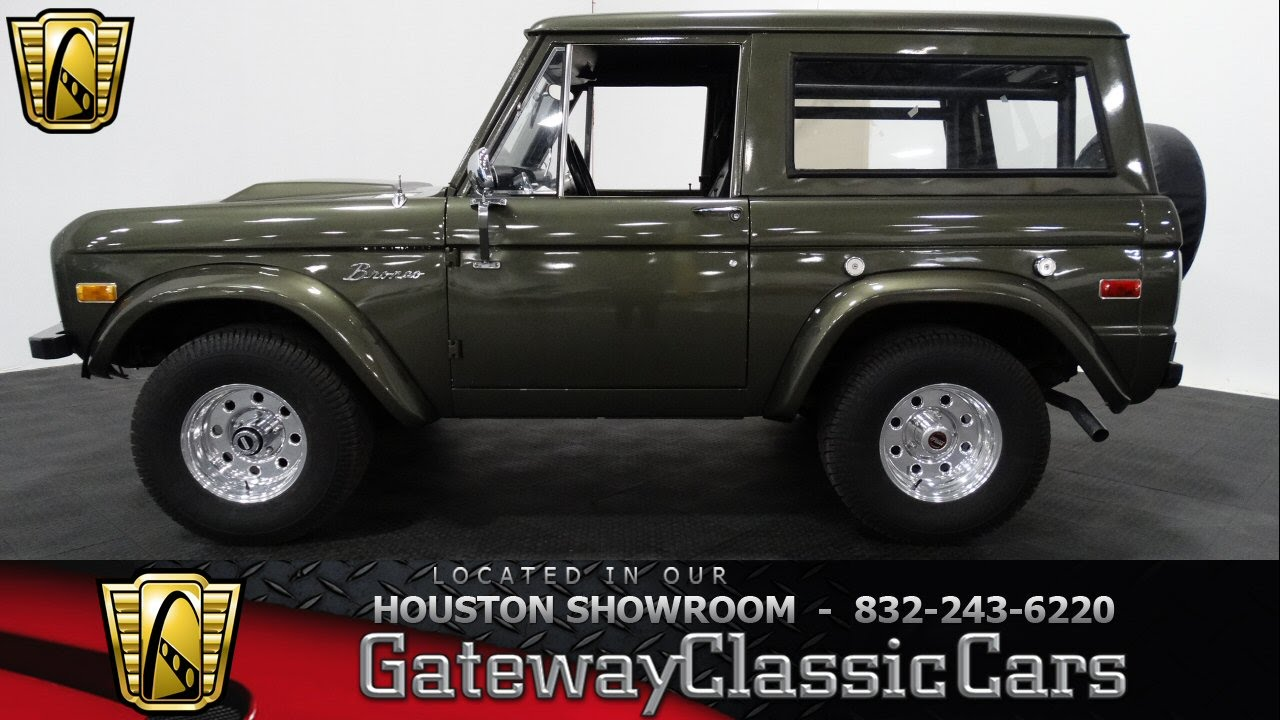 1975 ford bronco 315 gateway classic cars of houston youtube. Black Bedroom Furniture Sets. Home Design Ideas