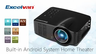[Hot selling ]Excelvan 1500 Lumens 1080P HD Home Theater LED Projector