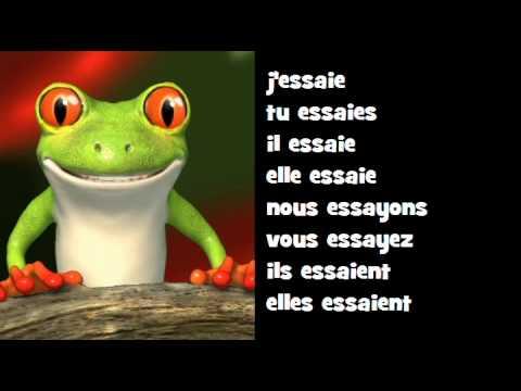 Conjugaison Musicale Indicatif Present Verbe Essayer Youtube