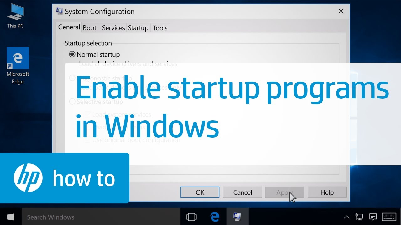 startup items are not enabled on this system windows server 2016