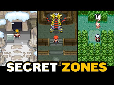 SECRET & MYSTERIES ZONES in Pokemon You MISSED?