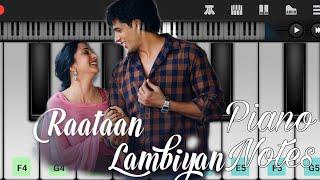 Raataan Lambiyan (Shershah), Jubin Nautiyal - Easy Piano Tutorial Video   Jarzee Entertainment