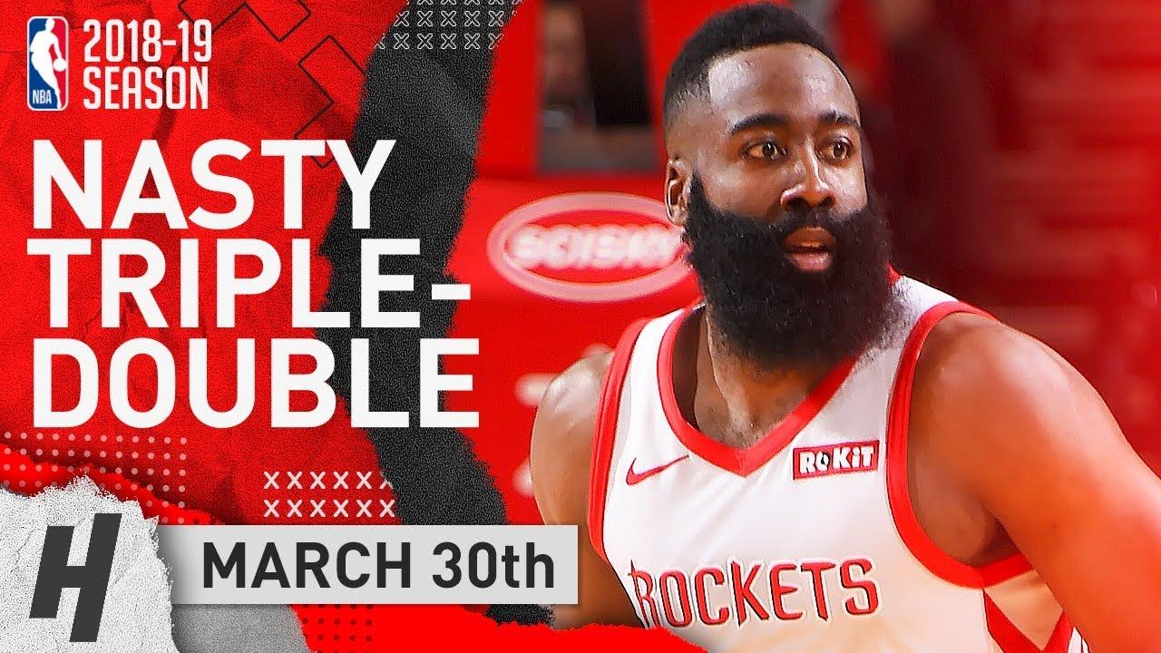 3c2f212b6df James Harden UNREAL Triple-Double Highlights Rockets vs Kings 2019.03.30 -  50 Pts