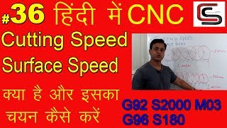 G96 Cutting speed surface speed cnc lathe machine