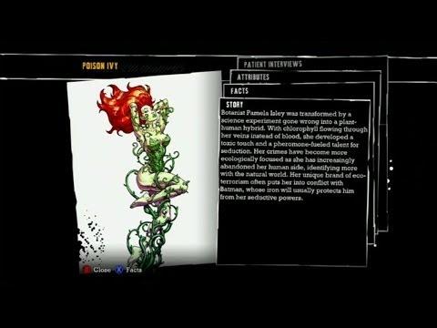 Batman: Arkham Asylum - Poison Ivy Interview Tapes and Bio
