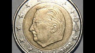 Обзор монеты 2 EURO Бельгии 2002 года  выпуска !!!(Монета 2 Евро 2002 года регулярного чекана Бельгии!!!, 2016-05-05T09:43:41.000Z)