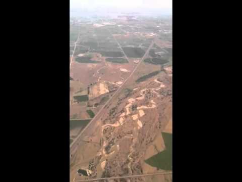 Flying over wildcat hills