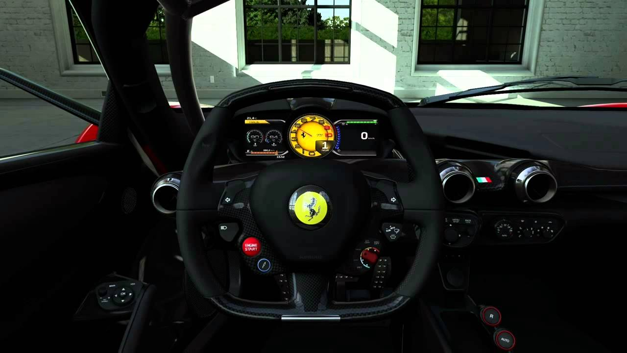 la ferrari dashboard youtube. Black Bedroom Furniture Sets. Home Design Ideas
