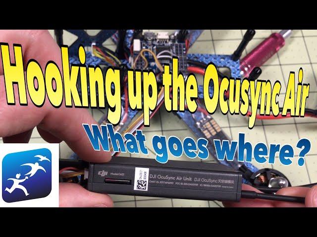 DJI OcuSync Air Module wiring on an Omnibus F4  Quadcopter testing with DJI Racing Edition Goggles
