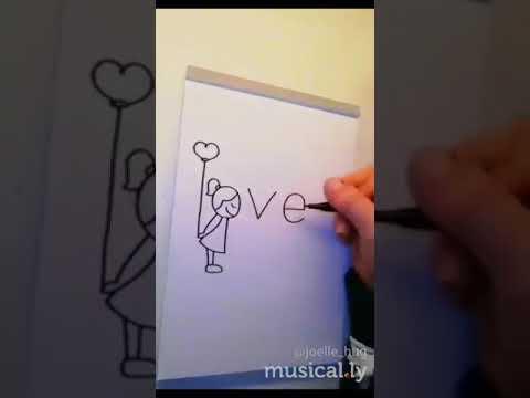 Dibujo de LOVE 💜 Amor Estado Corto💙 de WhatsApp Nuevo 2019❤