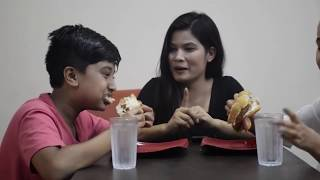 अनुभब र सेड्रीनाको Burger Challenge||Mero Show||Anubhav/Sedrina/Trisha