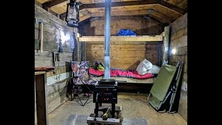 Winter Overnighter in my Bushcraft Cabin