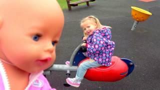 Беби Бон кукла Катя и детская площадка. ВЛОГ Развлечение для детей. Видео для детей Fun for the kids