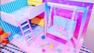 DIY Miniature Dollhouse #8 bedroom decor