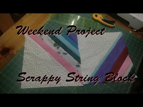 Weekend Project - Scrappy String Block