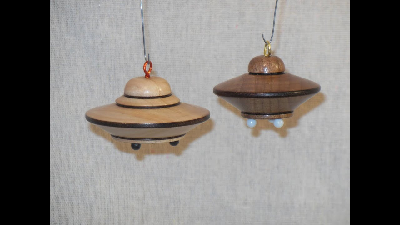 Turning a Flying Saucer Christmas Tree Ornament - YouTube