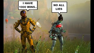 KID CAUGHT LYING ABOUT HIS APEX WINS! (FUNNY RANDOM TEAMMATE)