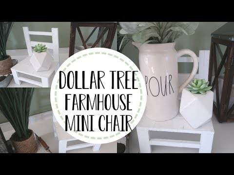 Dollar Tree Farmhouse DIY | DIY Mini Decor Chair| Dollar Tree Farmhouse Home Decor