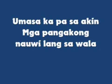 Halik - Kamikazee (Lyrics)