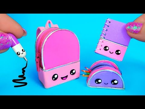 DIY Miniature School Supplies That Work! 😍 Kawaii