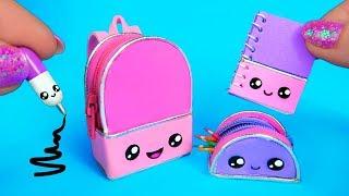 DIY Miniature School Supplies That Work! 😍 Kawaii