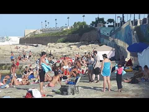 Sliema beach Malta 2017