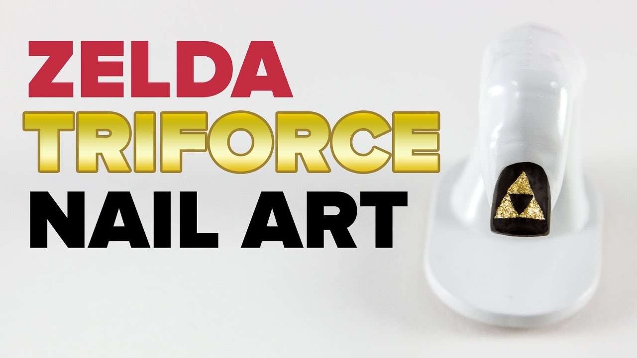 Zelda Triforce Nail Art Go Pop Youtube