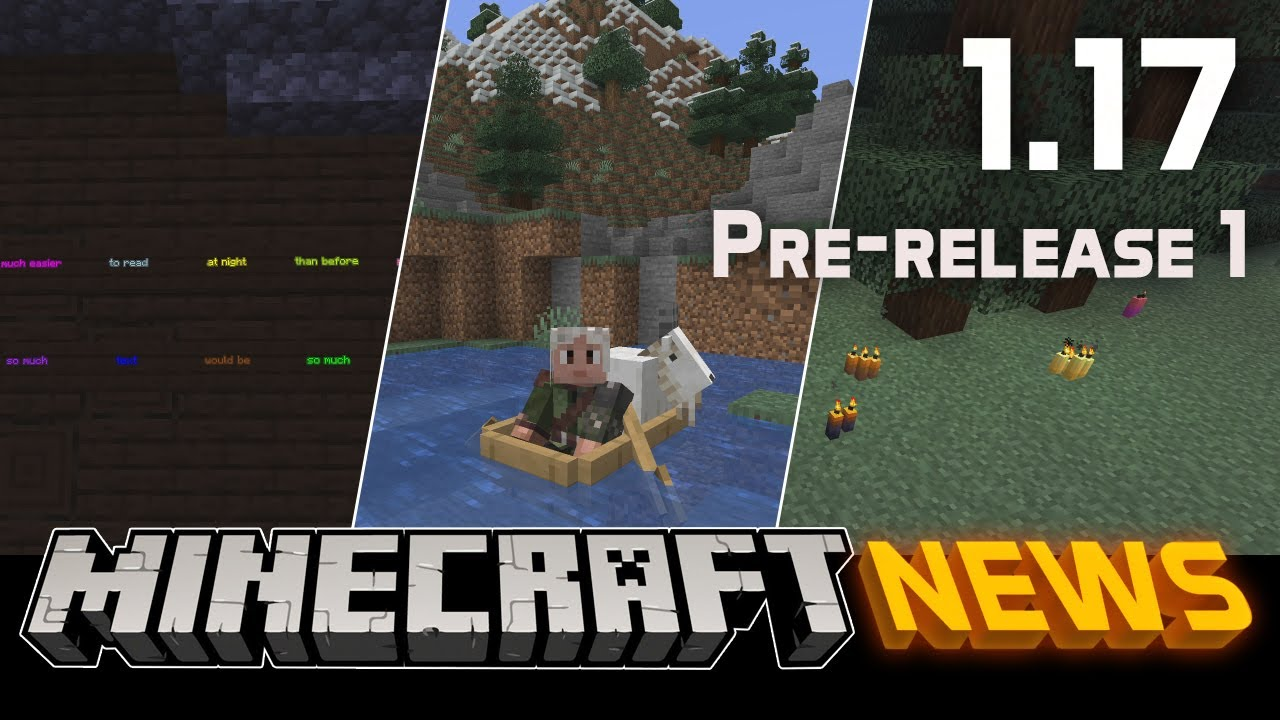 What's New in Minecraft 1.17 Pre-release 1?