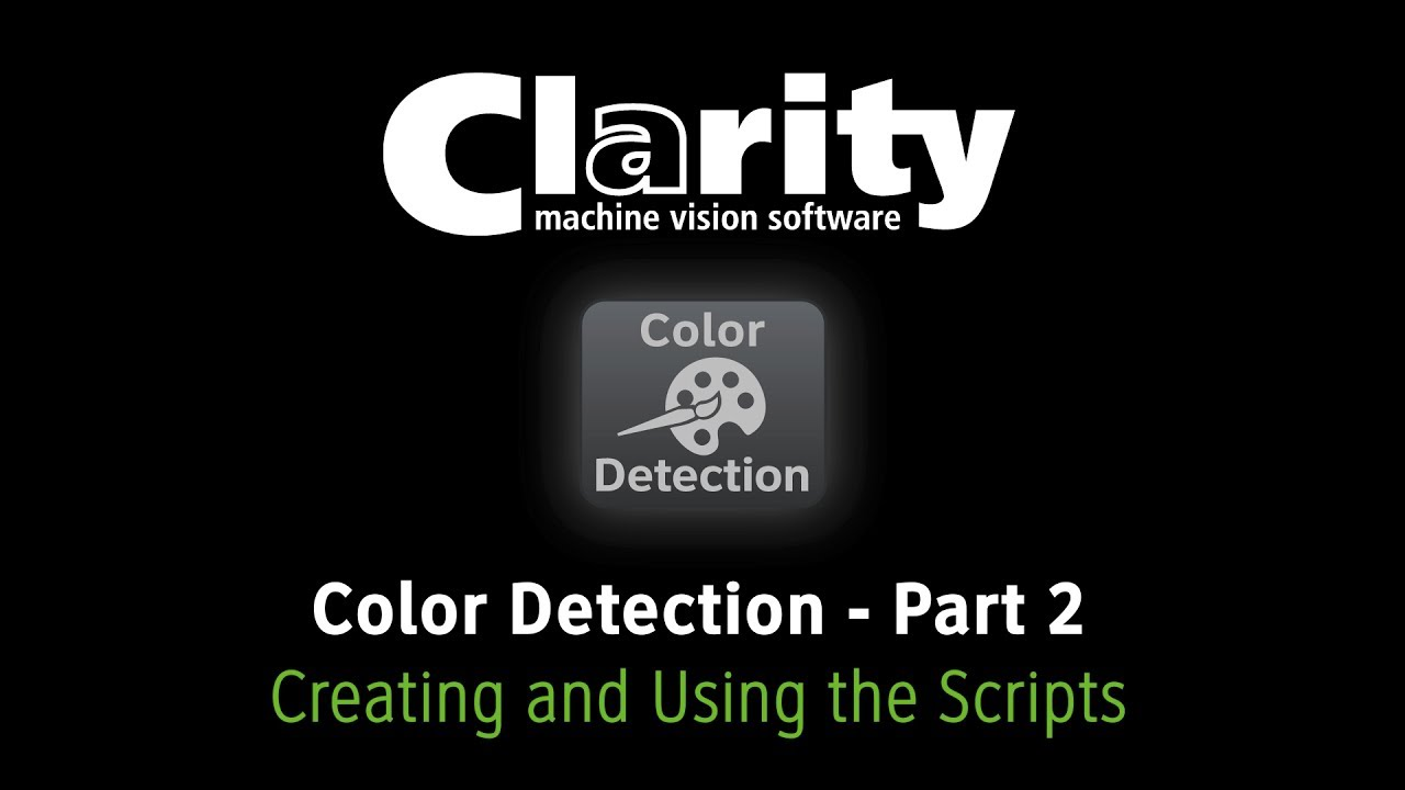 Clarity Machine Vision Software - The Color Detection Plug-In