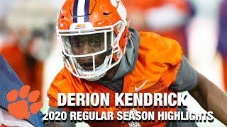 Derion Kendrick 2020 Regular Season Highlights | Clemson DB