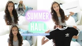 HUGE Summer haul! Brandy melville, Adidas, and more!