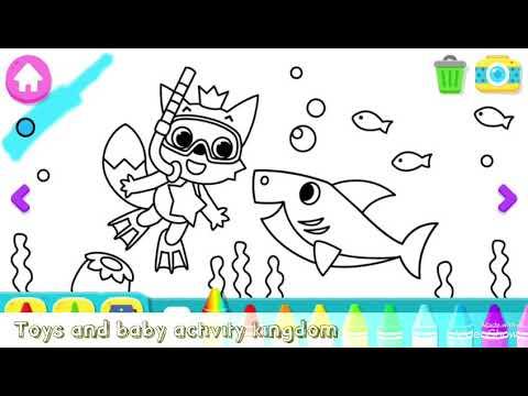 Baby shark pinkfong drawing coloring games playing