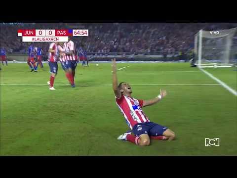 Junior 1-0 Pasto: gol Fabián Sambueza - Gabriel Fuentes Final Liga Águila 2019-I Deportes RCN
