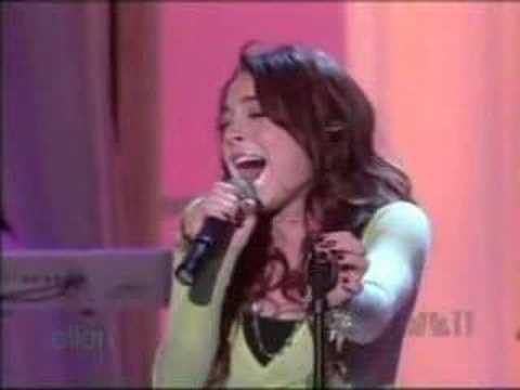 "Lindsay Lohan - Over [ Live @ ""The Ellen Show"" ]"