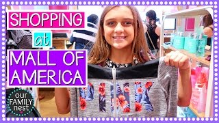 school shopping at the mall of america   road trip day four