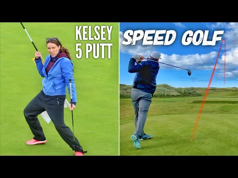 Kelsey's Incredible 5 Putt & Brodie Plays Speed Golf | Portstewart PART 3