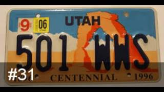 United States license plates ranked