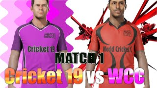 WCC3 vs Cricket 19 - Best Cricket Games championship - League of Gaming Live Scorecard / commentary