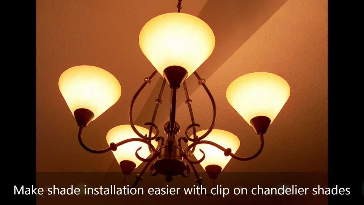 Make shade installation easier with clip on chandelier shades make shade installation easier with clip on chandelier shades shadeschandelier youtube arubaitofo Choice Image