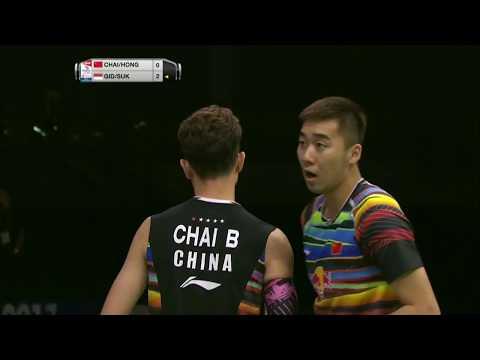 TOTAL BWF World Championships 2017 | Badminton QF M9-MD | Chai/Hong vs Gid/Suk