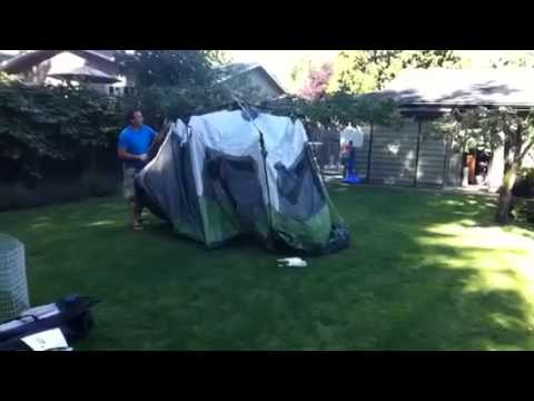 e3b06ed545b Coleman Instant Tent 8-9 person - YouTube