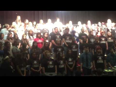 Borger High School Choirs Touching Shoulders